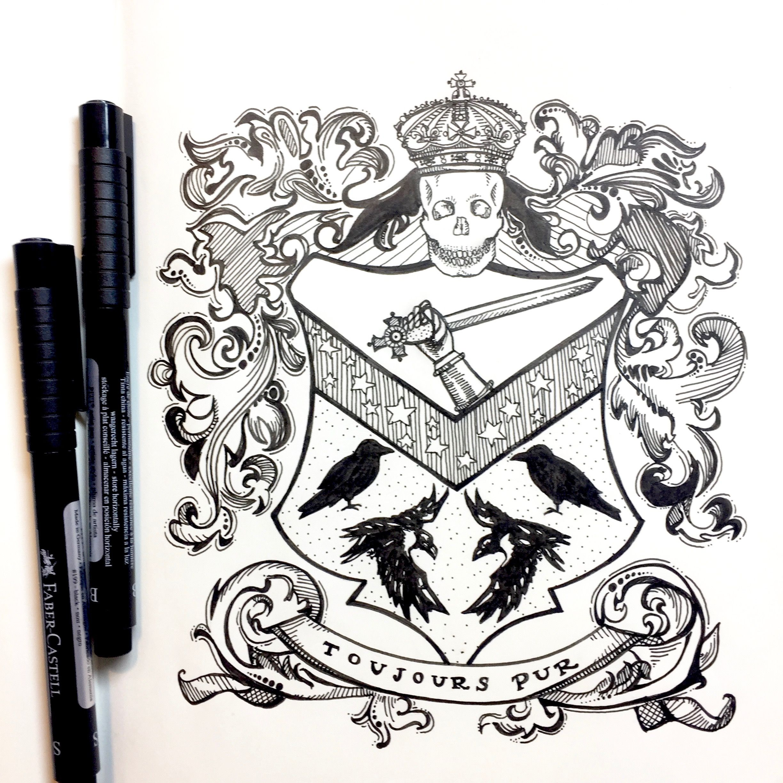 Black Family Crest Harry Potter Crest Harry Potter Pen