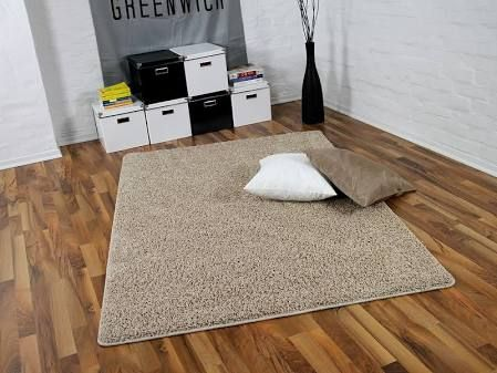 Teppich Hochflor Shaggy Premio Beige in 22 Größen, Größe240x360