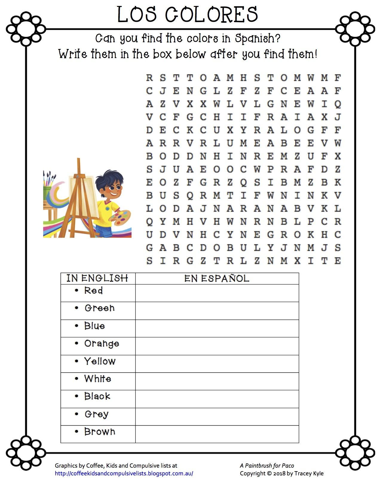 A paintbrush for paco learning goals bee book learn a