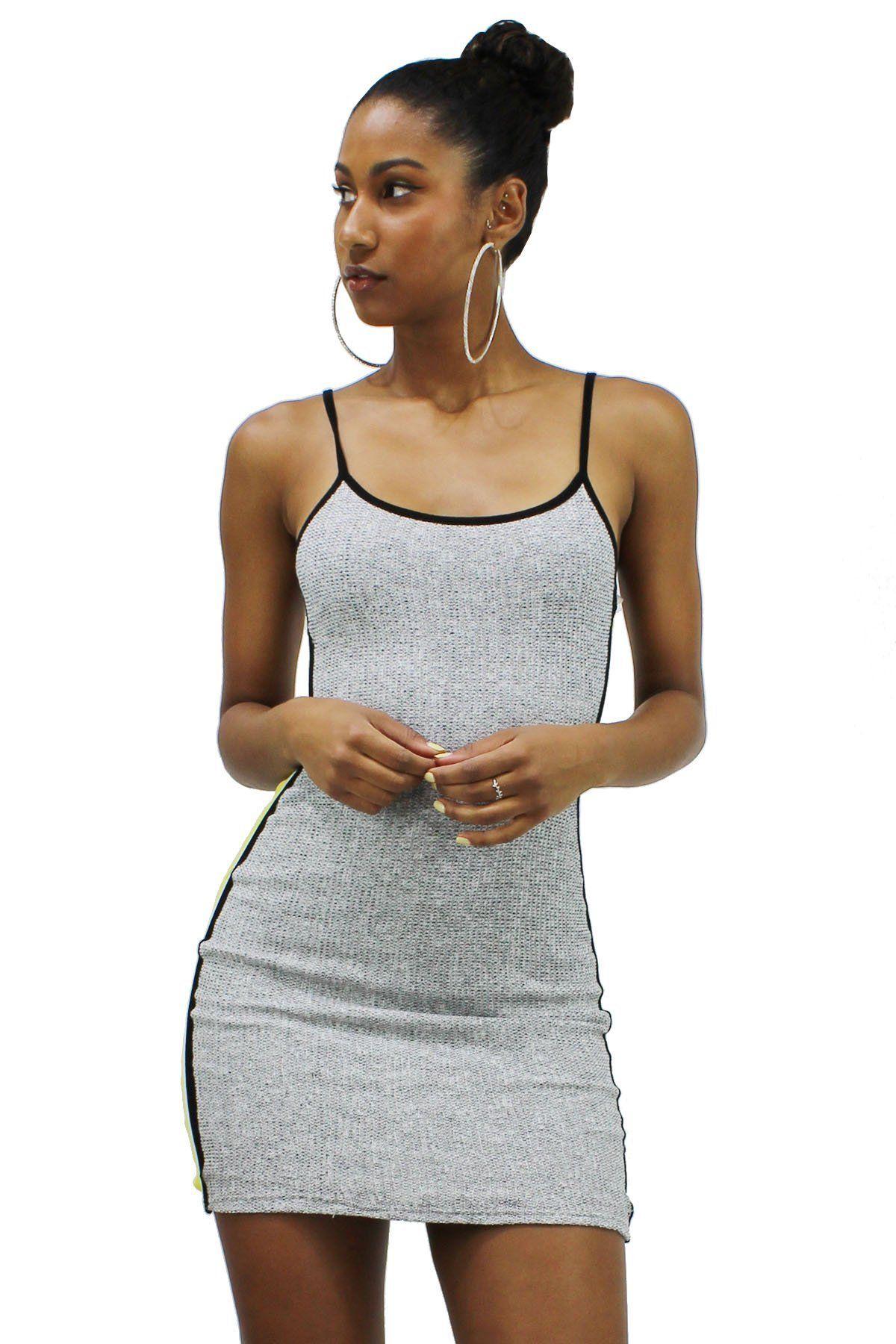 acd5d1b44e Round neck spaghetti strap contrast striped mini dress ael ddf jpg  1200x1800 Ddf dress