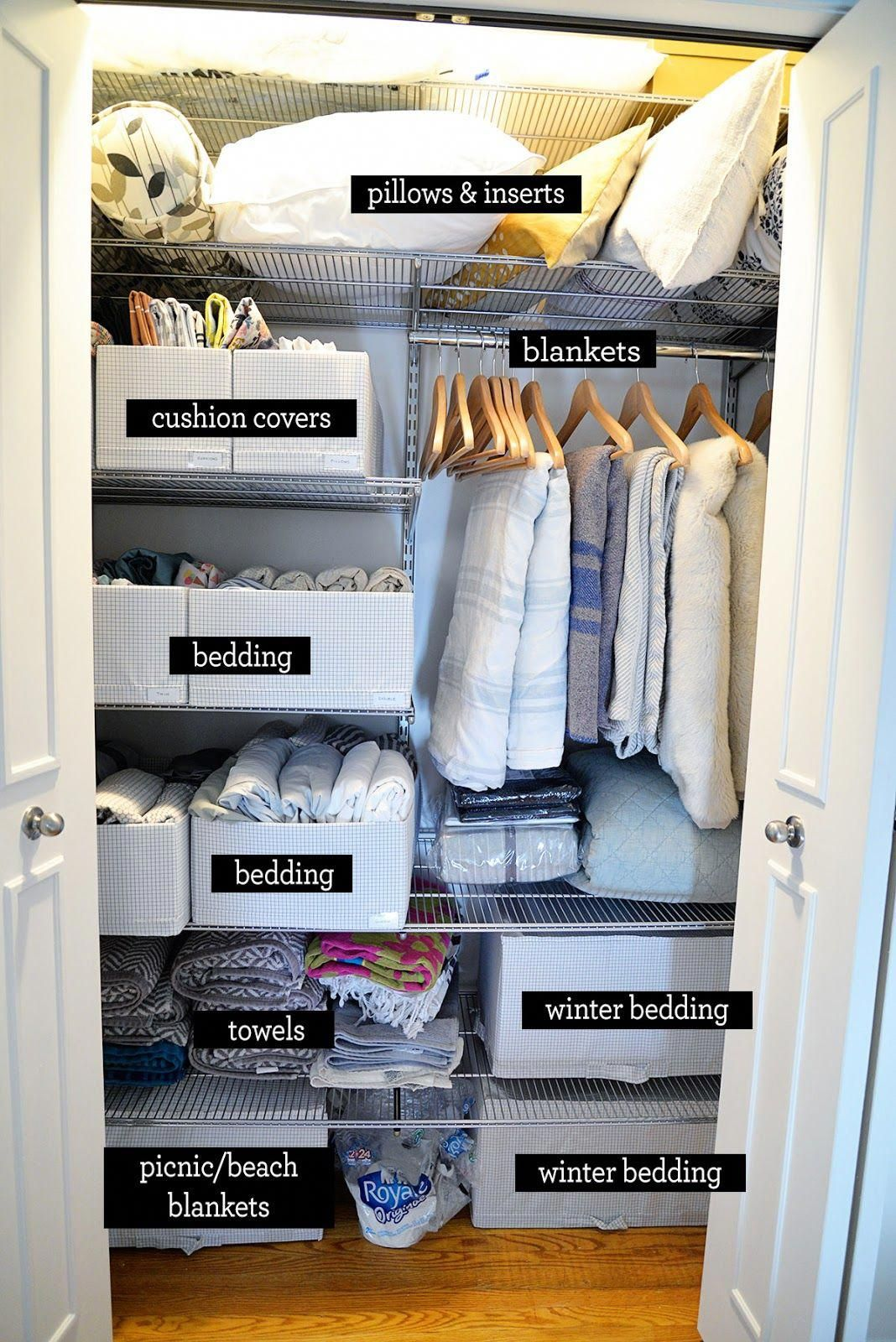Rambling Renovators: Linen Closet Organization Ideas