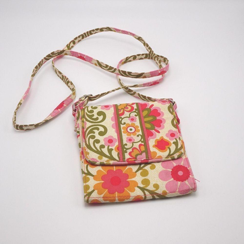 a9b8c73d02ae Vera Bradley Tiny Traveler Crossbody purse bag - Retired 2012 Folkloric  print