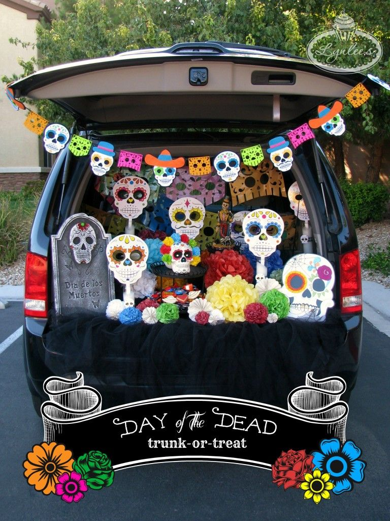 Halloween 2020 Kid Killed In Truck Day of the Dead Trunk or Treat Ideas   Lynlees | Trunk or treat