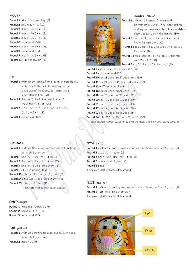 Croche e Pontos: Mochilas Infantis 15/9/16 | กระเป๋าโครเชต์ ...