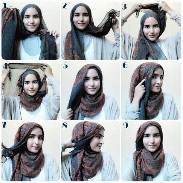 Gaya Buat Kain Atun Yang Bikin Hangat Dimana Saja Hijab Tutorial Simple Hijab Simple Hijab Tutorial