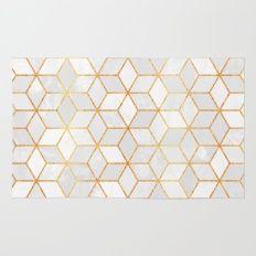 White Cubes Rug