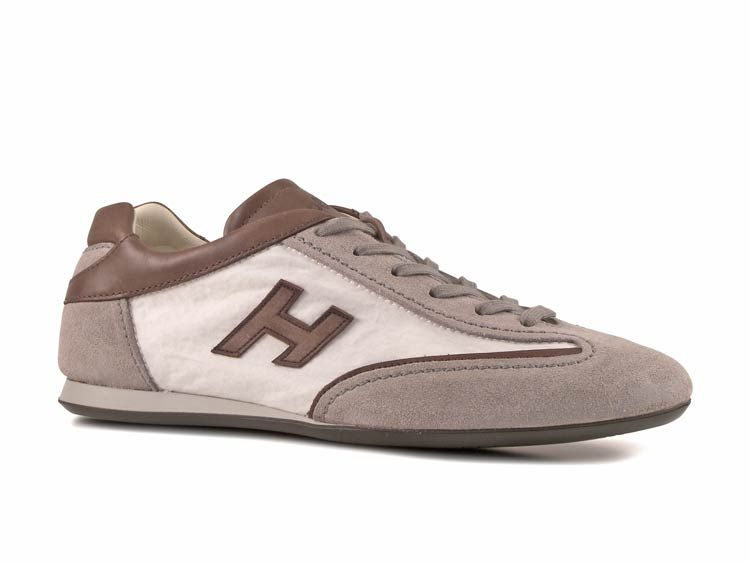 d0fe9036e92ee Sneakers Hogan uomo in pelle tessuto bianco OLYMPIA - Italian Boutique  186