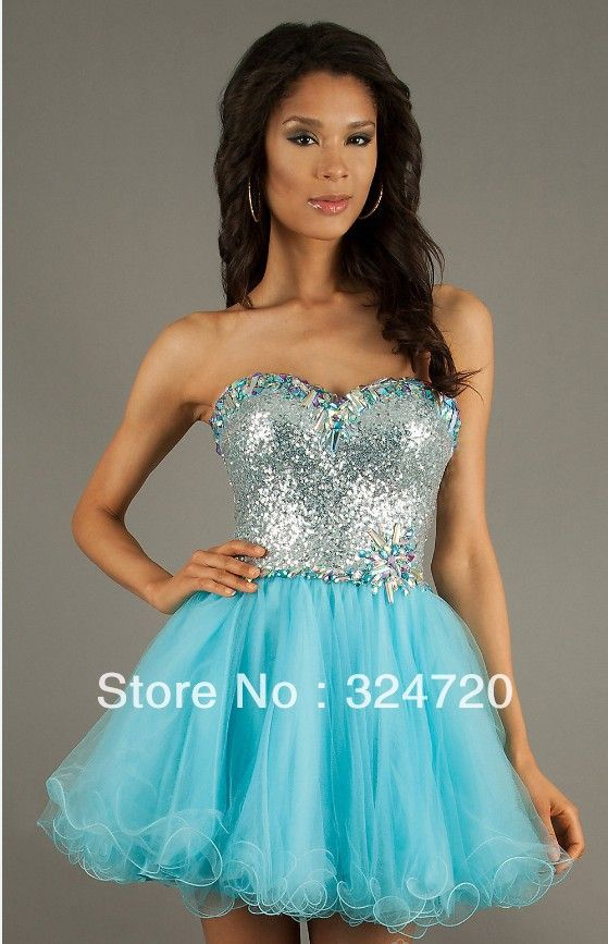 Light Blue Short Prom Dresses   Light Sky Blue Short Prom Dress ...