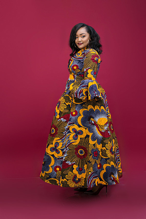 Plus Size Dress Ankara Dress Infinity Dress Wrap Dress