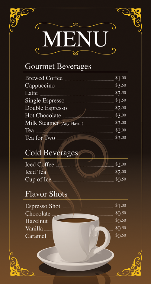 Coffee Shop Menu Ideas Coffee shop menu | Cartas y menus ...