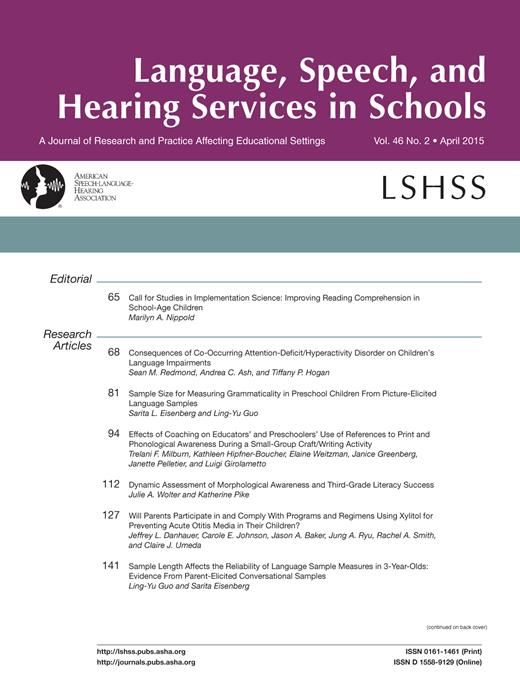 LSHSS April Issue Live now on ASHAWire! #slpeeps #LSHSS #ashaweb