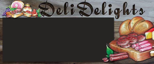 deli rustic timber chalkart menu board template knomad chalkart