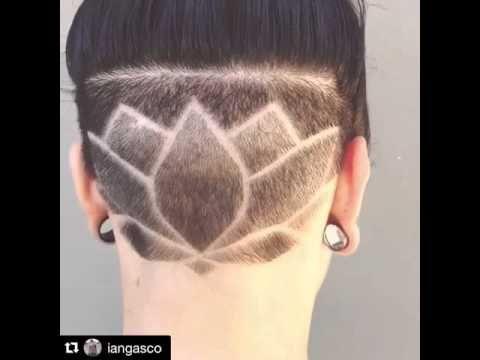 Pleasing Fresh Lotus Undercut Nape Youtube Lotus Flower Ideas For Hairstyles For Women Draintrainus