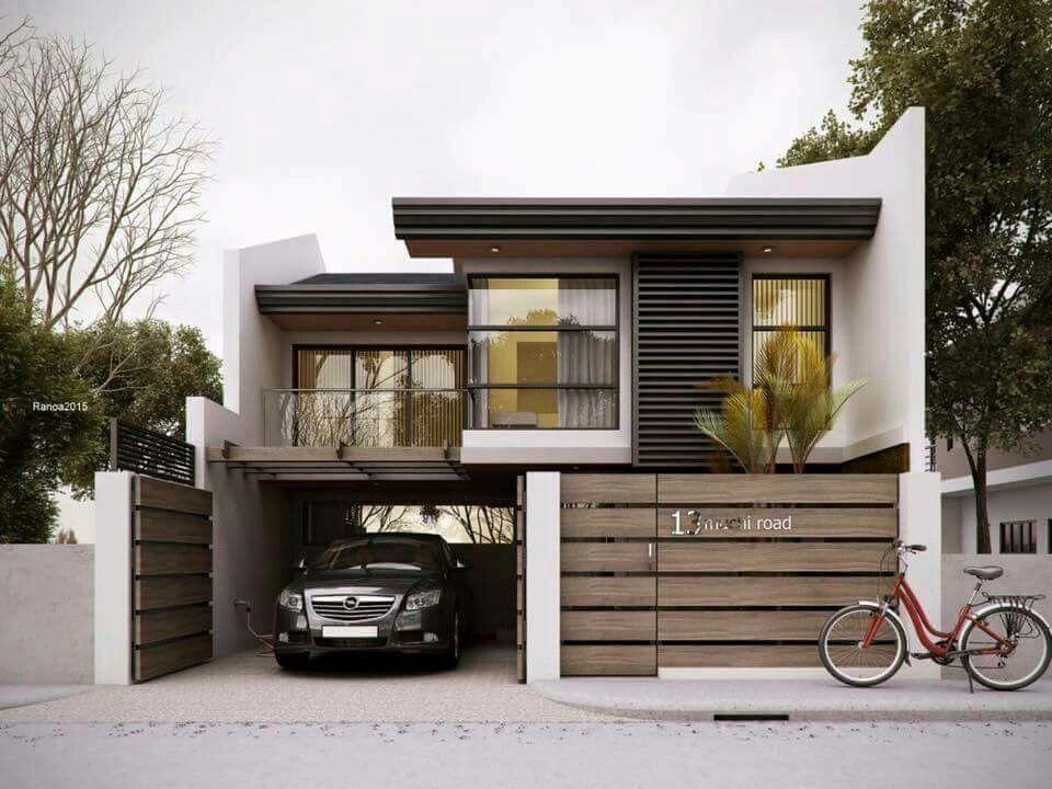 Casa mediana fachadas de casas medianas en 2019 casas for Planos de casas minimalistas modernas