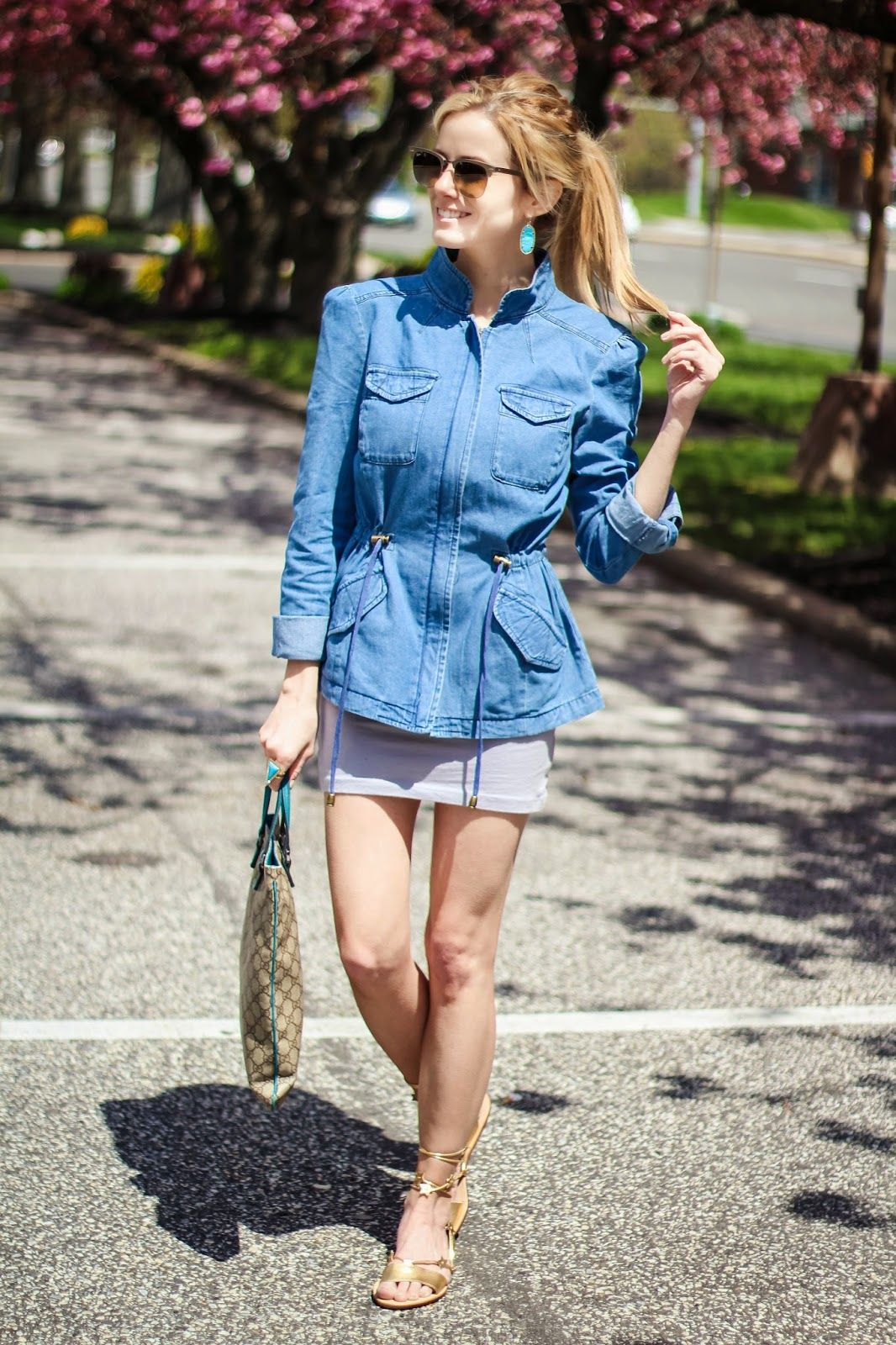 The Knotted Chain: Chambray in the Spring with Coffee Shop Coats