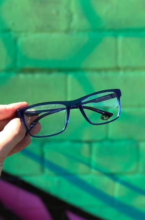 a7d86a64a535 Product of the Day - The Animal Dale Large Acetate Glasses in blue. Online  now
