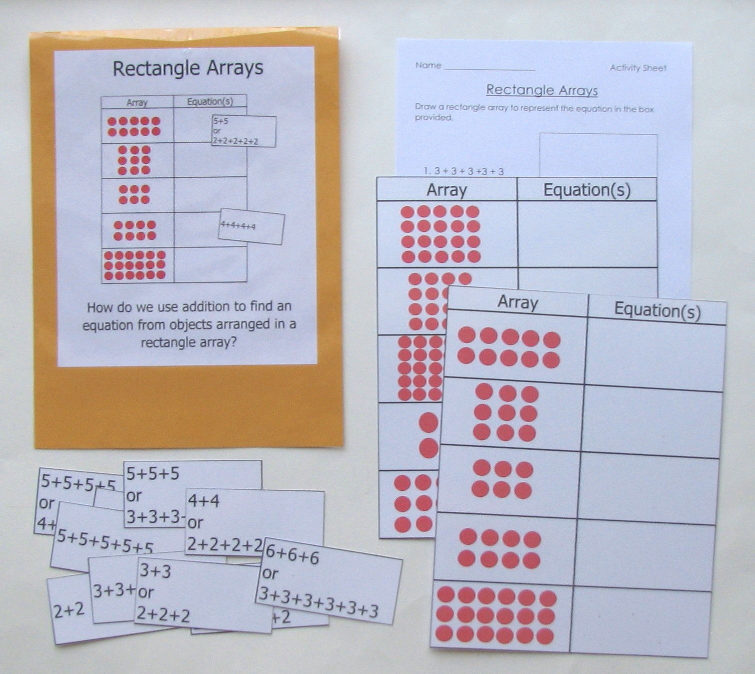 Rectangle Arrays Second Grade Children Can Practice And
