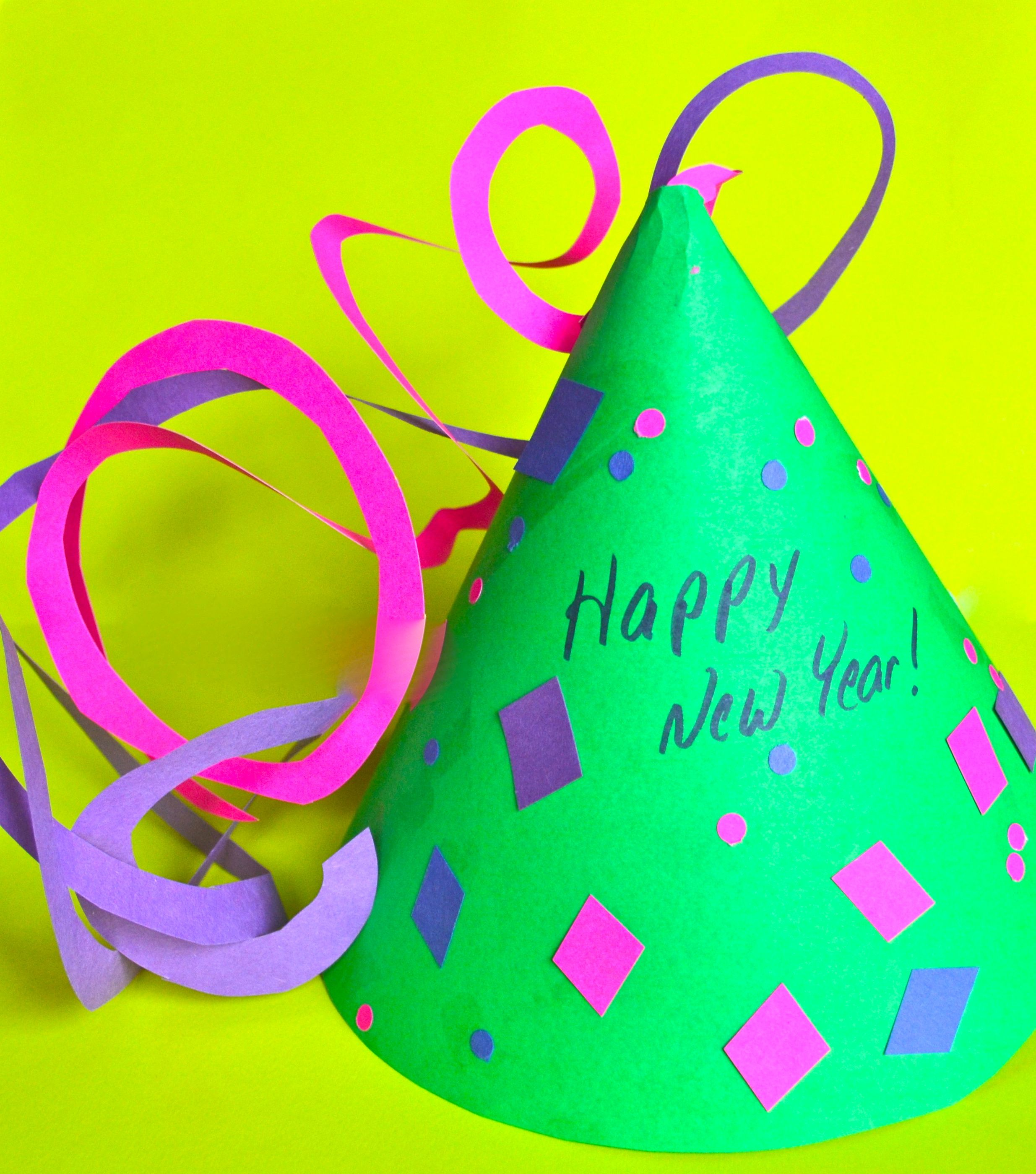 DIY New Years Eve hat for the kids Kids new years eve
