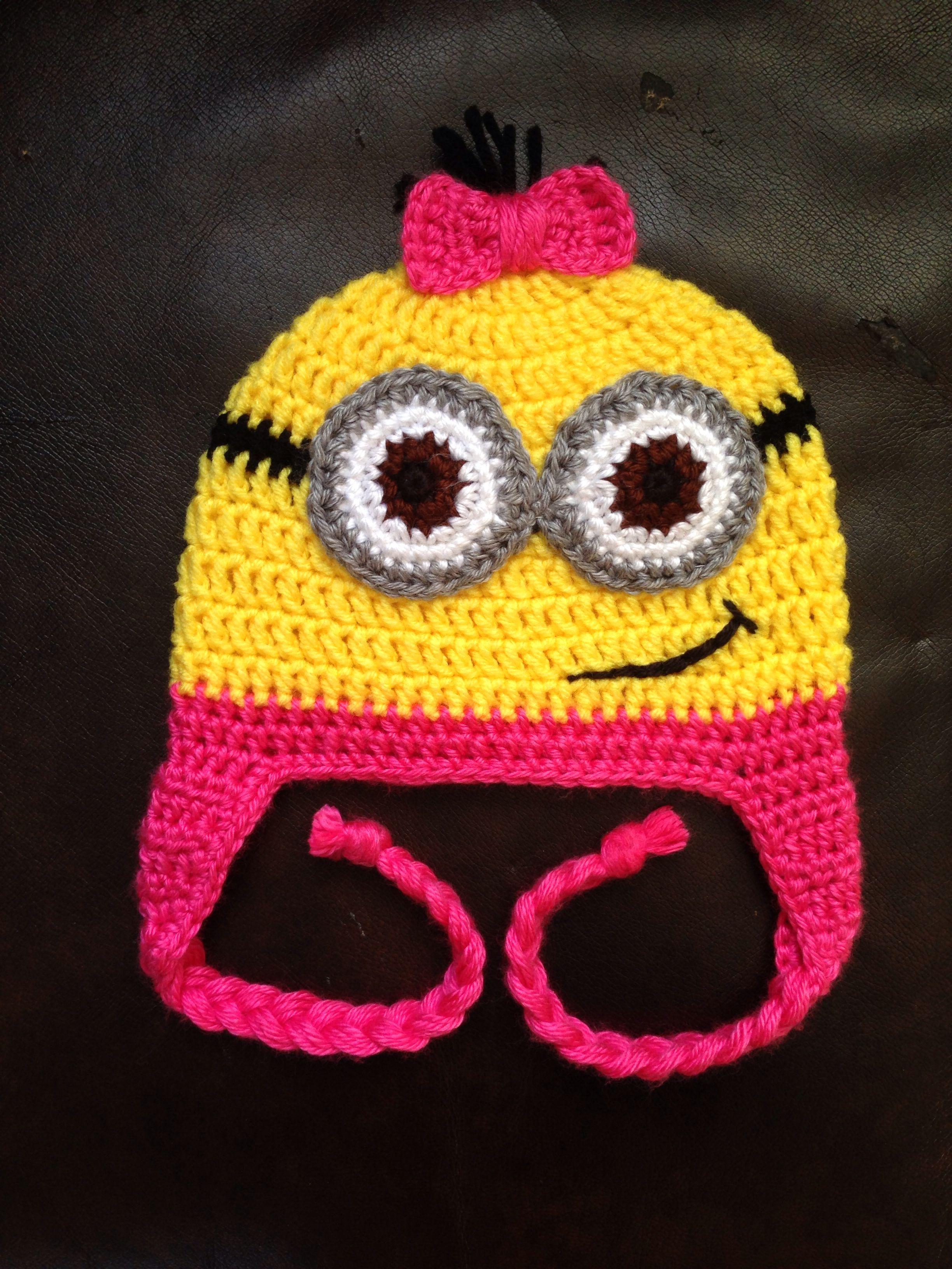 Crochet girl minion hat! I love it! | Minion hats | Pinterest ...