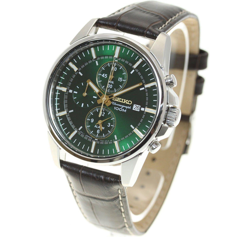 Amazon [セイコー]SEIKO 腕時計 メンズ 海外セイコー 逆輸入 クロノグラフ SNAF09P1(SNAF09PC) [逆輸入品] 国内ブランド 通販