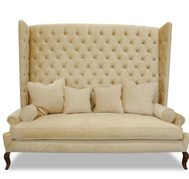 Haute House Furniture Teatro Tufted Banquette Settee Highback Sofa Seating