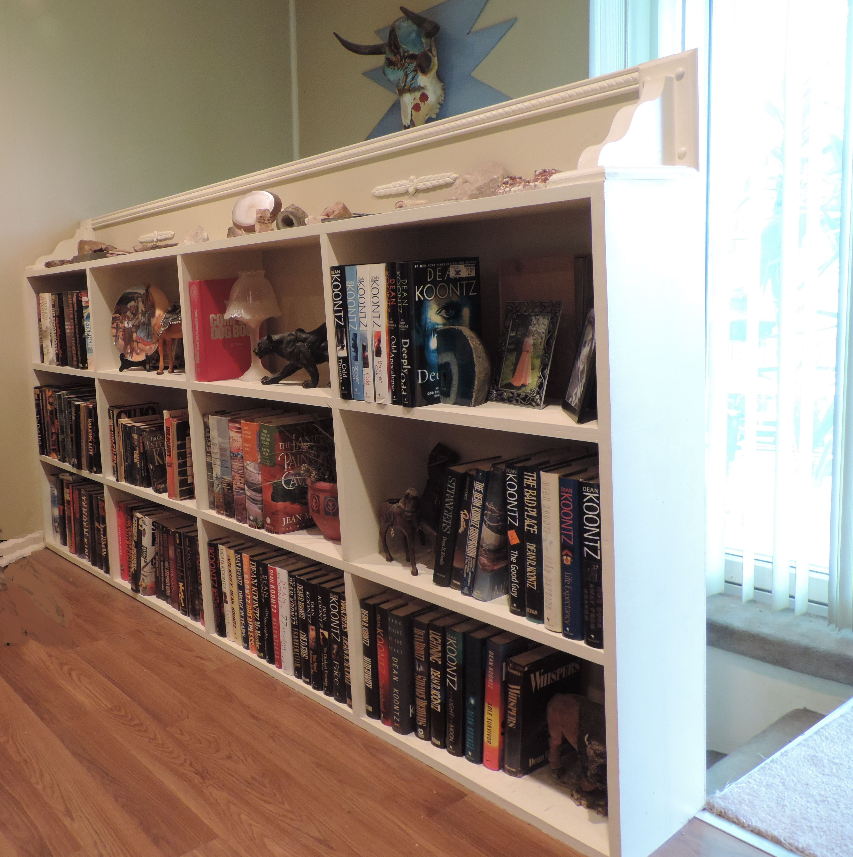 Bookcase Stair Railing Half Wall Bookcase Needed Somewhere To Display My Stephen