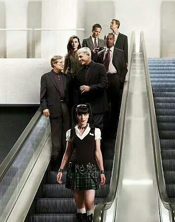 Tým na schodech