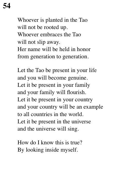 54 Tao Te Ching - Lao Tse (Lao Tzu) | Tao Te Ching | Tao te