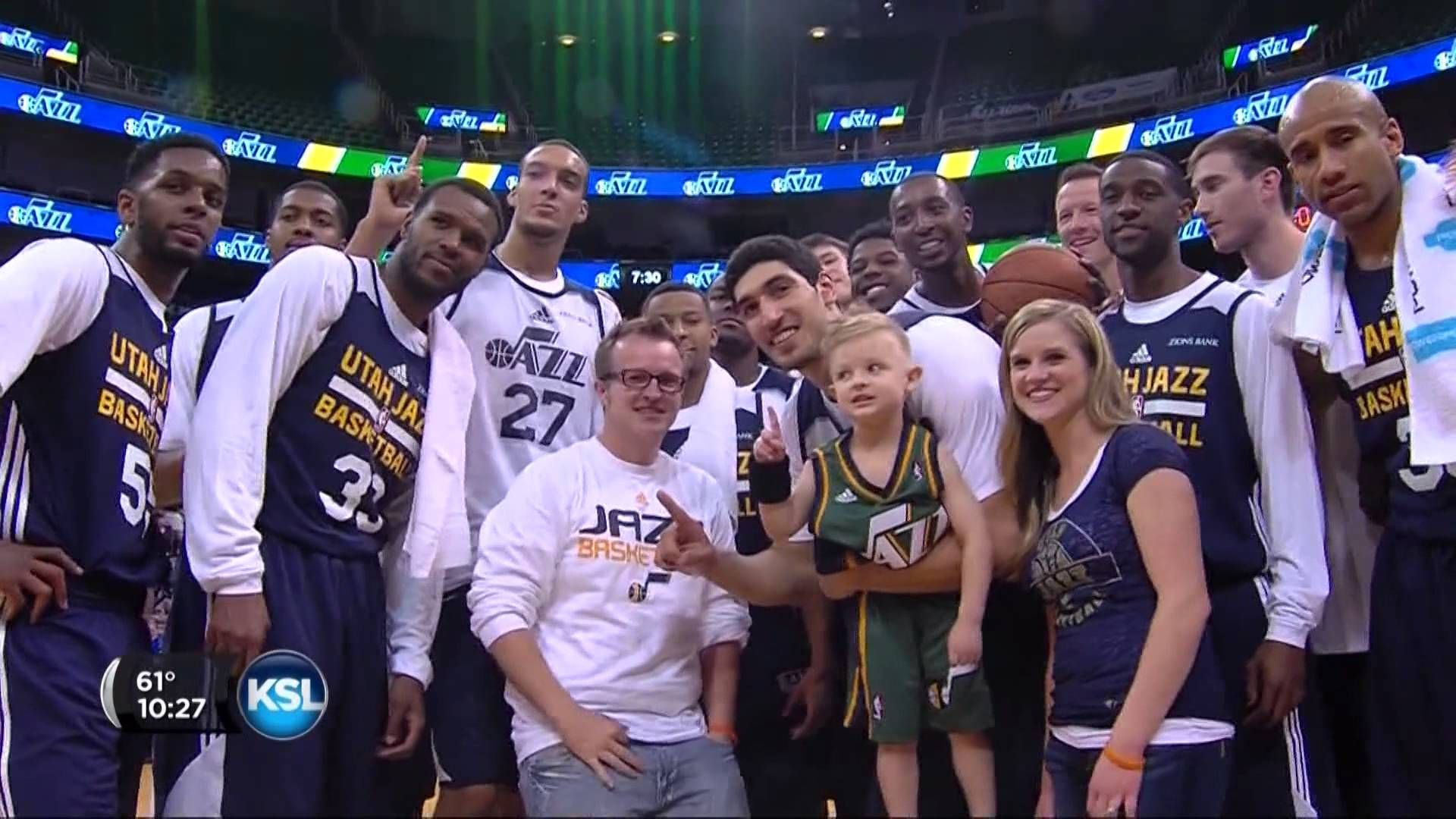 The Utah Jazz sign 5-year old JP Gibson to a 1-day contract - YouTube f03d5bb3b