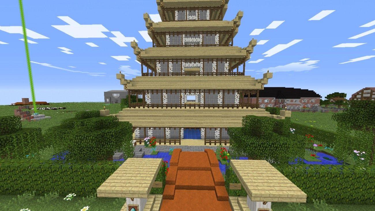 Minecraft Hauser Zum Nachbauen Einfach Mit Asien Haus Mit Garten In Minecraft Bauen Minecraft Bauideen 22 In 2020 Minecraft Haus Minecraft Haus Bauen Asiatisches Haus