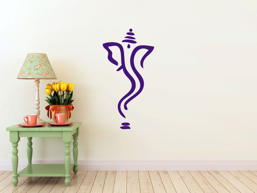Lord Ganesh Wall DECAL Sticker Art Home Decor Interior Ideas - Custom vinyl wall decals dragon
