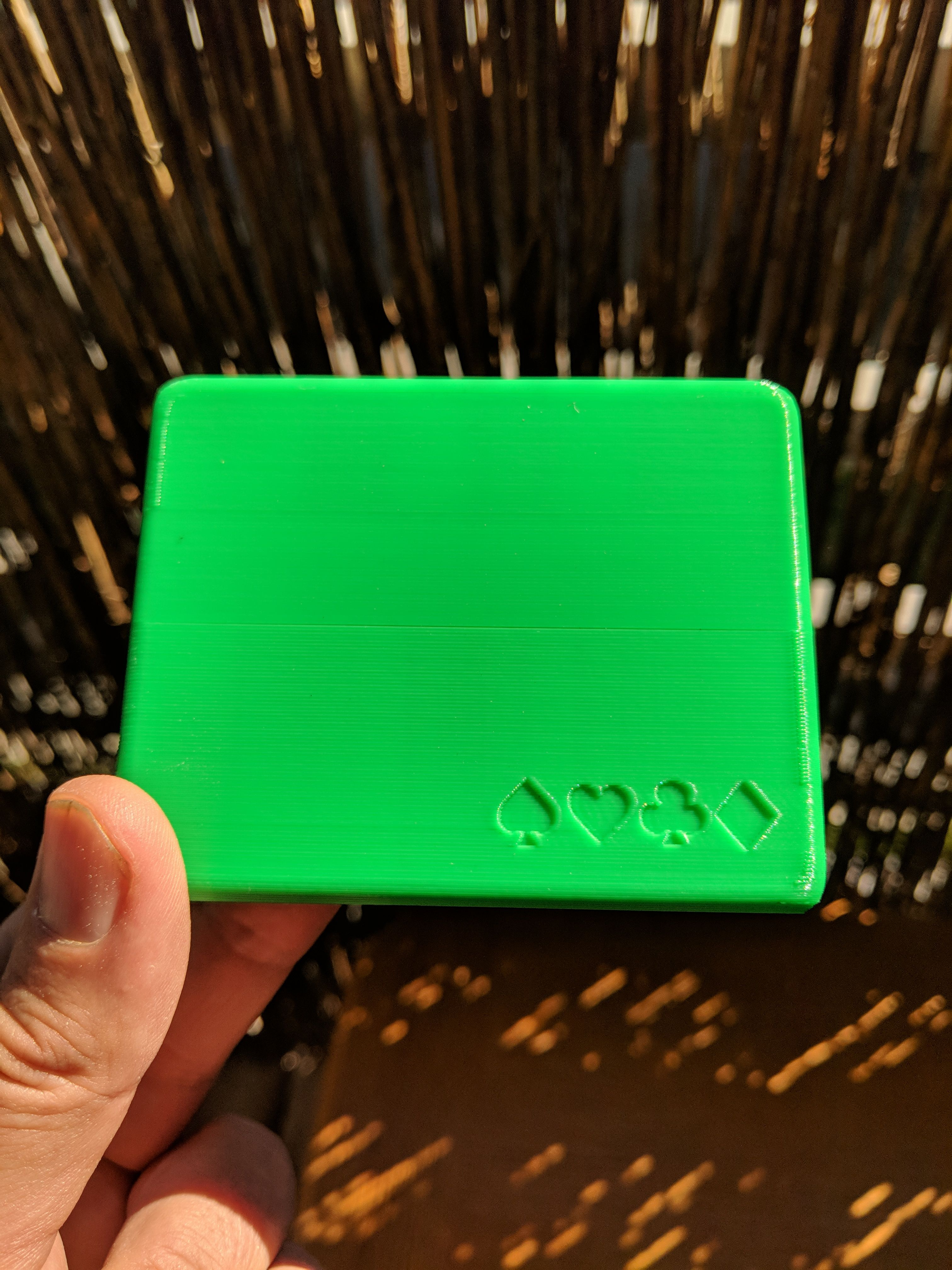 3D Printed Wallet Box Poker gifts, Personalized wallet