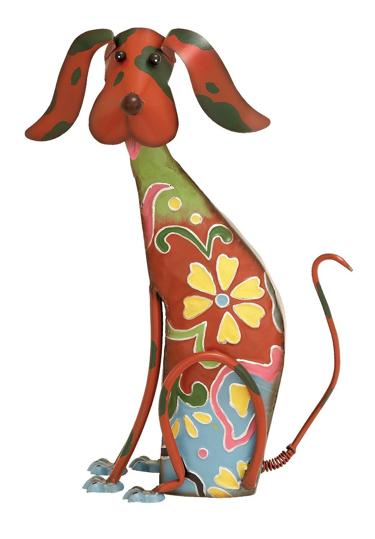 Amazon.com : Deco 79 55138 Metal Decorative Dog Statue, 12 ...