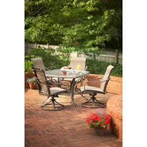 Martha Stewart Living Grand Bank Swivel Patio Dining Chair   The Home Depot