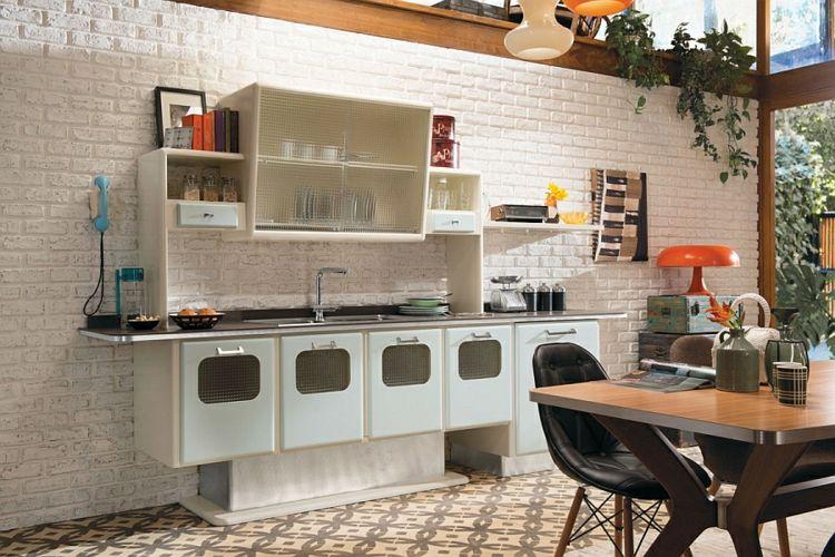Kann die moderne Küche im Retro Stil gestaltet sein? Haus - moderne kuche