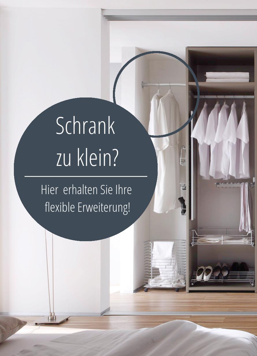 Schrankerweiterung Kleiderstange Aluminium Wand Zu Wand