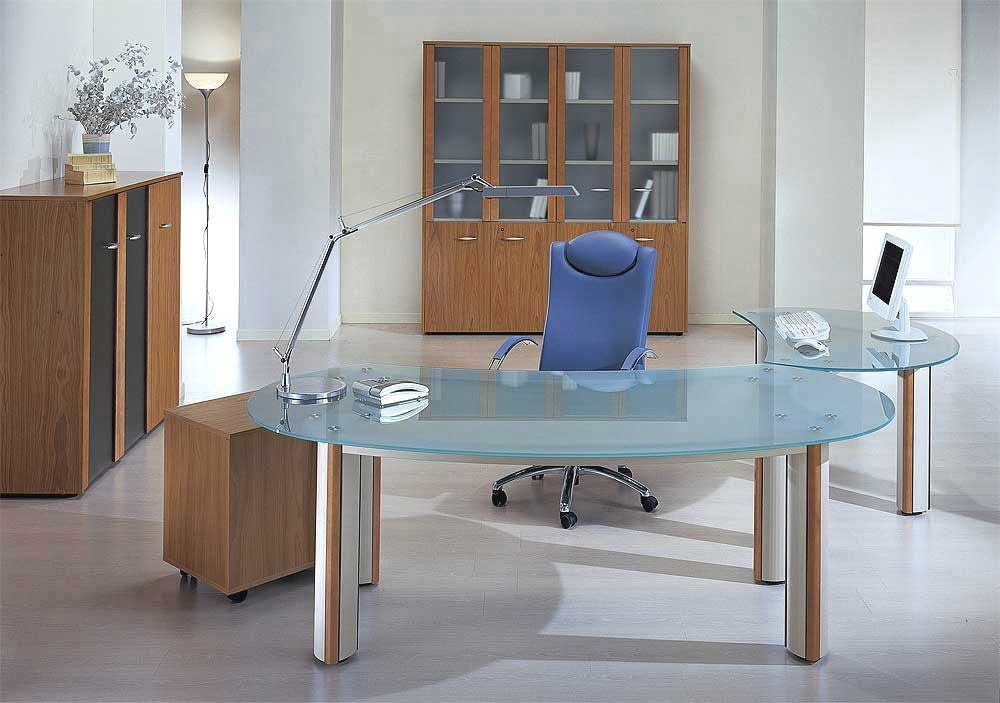 Contemporary Glass Office Desk Luxury Glass Impressive ...