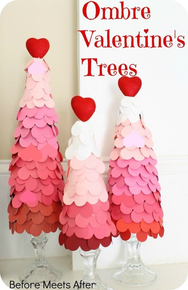 Ombre Valentine S Day Heart Tree The Greatest 30 Diy Decoration Ideas For Unforgettable