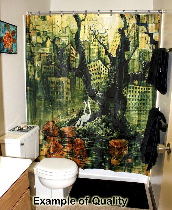 Rw2 Shower Curtain Alice In Wonderland Surrealism By Rw2gallery 49 00 Amazing Showers Environmental Art Shower Curtain