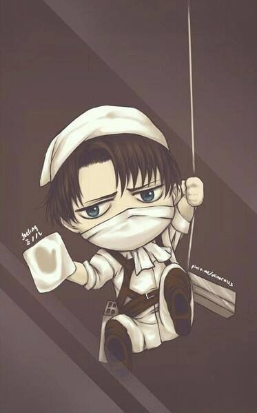 Attack On Titan 進撃の巨人 Levi Ackerman Chibi