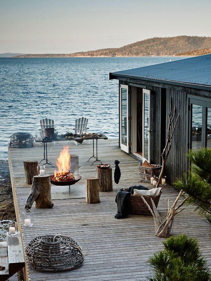 Isla satélite, Tasmania Pumphouse Point – cama de agua
