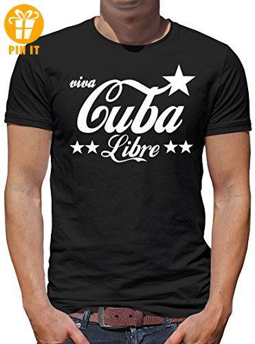 TLM Cuba Libre T-Shirt Herren S Schwarz - T-Shirts mit Spruch  