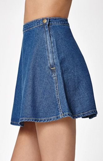 d363b0ca9ba Bullhead Denim Co. Dark Denim Circle Skirt from PacSun