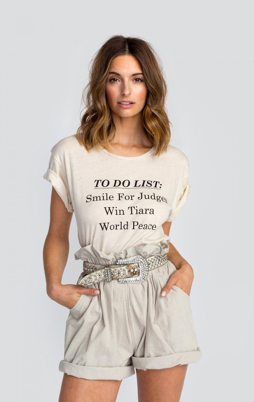 Pageant List Manchester Tee Wildfox T shirts for women