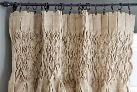 How To Make Smocked Burlap Curtains Thistlewood Farms Drop Cloth Curtains Burlap Curtains Diy Curtains