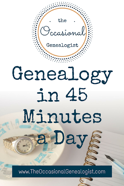 Genealogy in 45 Minutes a Day: The Lunchtime Genealogist #genealogy