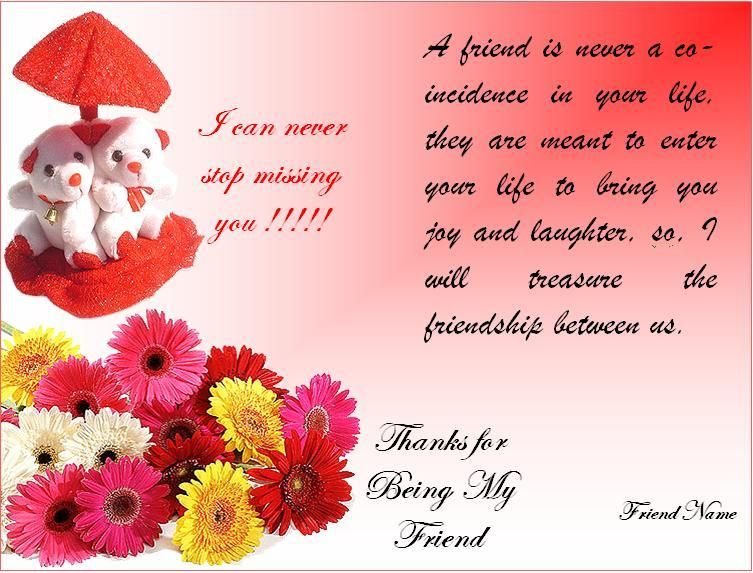Friends give gifts cards chocolates and other things to – Friendship Card Template