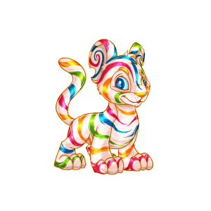 Candy Kougra Neopets Colors The Daily Neopets Item