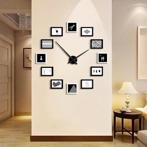 Unique Home Office DIY Creative Photo Frame Wall Clock Set | Creative Photo  Frames, Wall Clocks And Clocks