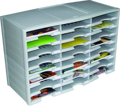 Storex 24-Compartment Literature Organizer/Document Sorter, Grey (61610U01C), http://www.amazon.com/dp/B009JY009E/ref=cm_sw_r_pi_awdm_iOIOub018V8RE
